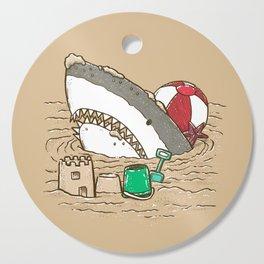 Sandy Beach Shark Cutting Board