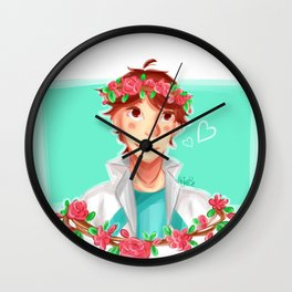Oikawa Tooru w flowercrown Wall Clock