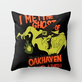 the witchs ghost Throw Pillow