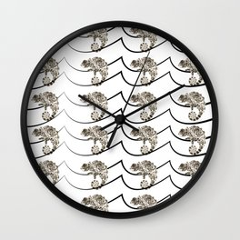 Color Deprived Cool Chameleon black and white Wall Clock