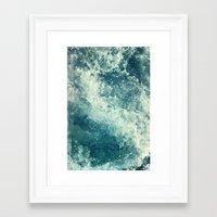 friends Framed Art Prints featuring Water I by Dr. Lukas Brezak