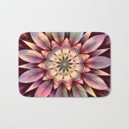 Pastel Dimensional Flower Mandala Bath Mat