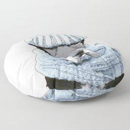 Great Dane winter hat (white background) Floor Pillow