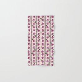 romantic rose pattern – sweet midcentury flowers Hand & Bath Towel