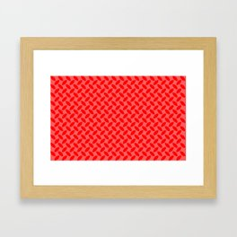 Red Tread Style Background Framed Art Print