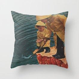 Wear Your Raincoat Throw Pillow