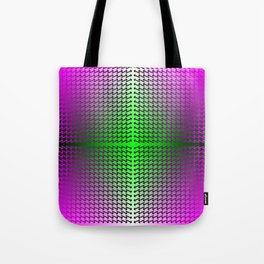 Purple Arrows Pointing into Ombre Green and Purple Field Tote Bag