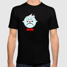Funny Angry Head Black Mens Fitted Tee MEDIUM