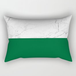 emerald green and white marble Rectangular Pillow