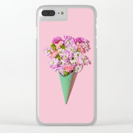 Flower Flurry I Clear iPhone Case