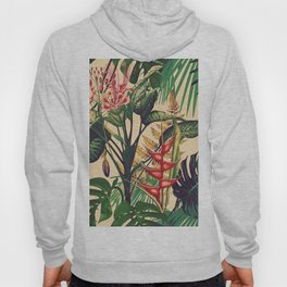 Vintage Tropical Flora (green) Hoody