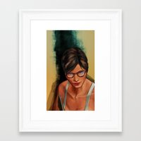 grand theft auto Framed Art Prints featuring Grand Theft Auto Online Characters - The Beauty of The Damned by W.Flemming