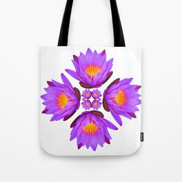 Purple Lily Flower - On White Tote Bag