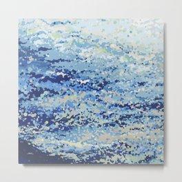 Bubbling Ocean Waves- Afternoon Metal Print