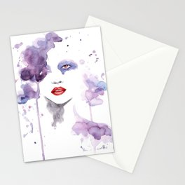 Red Eyes Red Lips two Stationery Cards