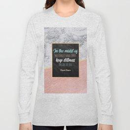 Keep stillness inside of you Long Sleeve T-shirt