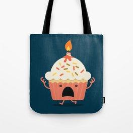 Cupcake on fire Tote Bag