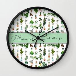 Plant Lady Confetti  Wall Clock