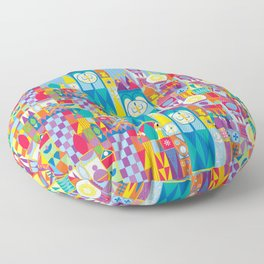 It's A Small World - Theme Park Inspired Floor Pillow