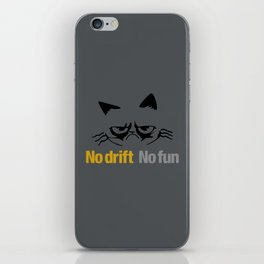 No drift No fun v1 HQvector iPhone Skin
