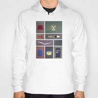 fez Hoodies featuring Eleven (Doctor Who) Colors by avoid peril