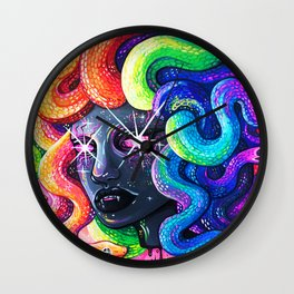 Rainbow Medusa Wall Clock