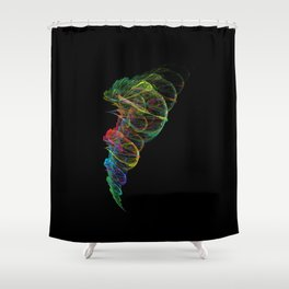 Fractal whirlwind Shower Curtain