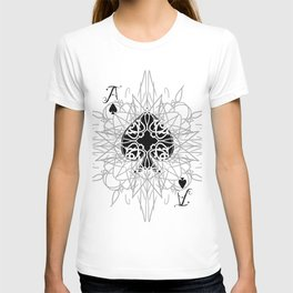 Tribal Mandala Watermark Ace of Spades T-shirt