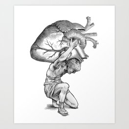 Heavy-Hearted - The Weight of the World Art Print