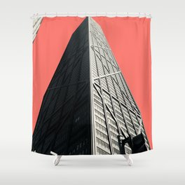 Hancock in Living Coral Shower Curtain