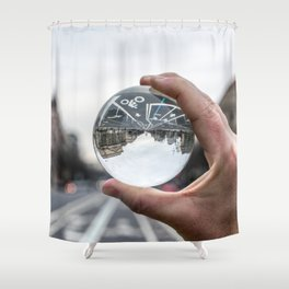 That Upside Down Feeling Shower Curtain