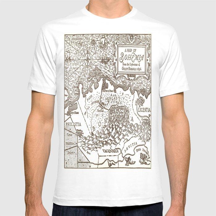 Map of Bohemia T-shirt