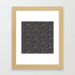 School pattern on the white Framed Art Print