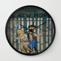 tintin Wall Clocks featuring rare tintin comic by space boy studios