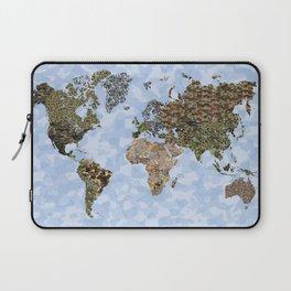 CAMO WORLD ATLAS MAP (blue) Laptop Sleeve