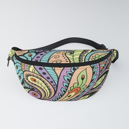 Colourful Oriental Paisley Pattern Fanny Pack