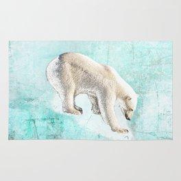 Polar bear on thin ice Rug