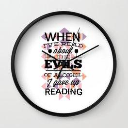 evill alcohol Wall Clock