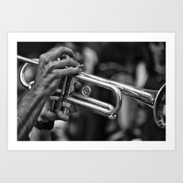 Trumpet player. Art Print