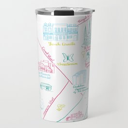 New Orleans, Louisiana Illustrated Calligraphy Map Travel Mug