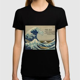 The Great Wave - Hokusai & Cousteau - Sea Casts Spell T-shirt