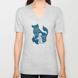 Strength of the Pack - Wolf and Child Unisex V-Neck