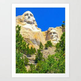 Mount Rushmore Vertical Print Color Art Print