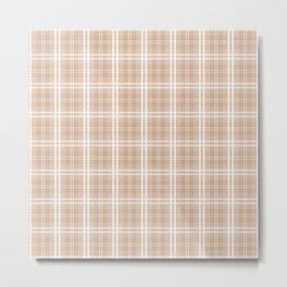 Spring 2017 Designer Color Light Hazelnut Brown Tartan Plaid Check Metal Print