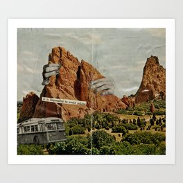 It Is Impossible To Avoid Asking Art Print