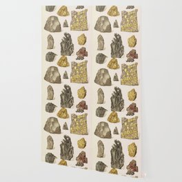 Vintage Gold Minerals Wallpaper