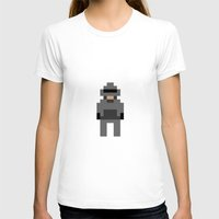 robocop T-shirts featuring Robocop by Pixel Icons