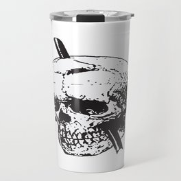 Frontal Lobotomy Skull Of Phineas Gage Vector Isolated Travel Mug