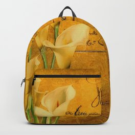 Vintage calla lilies Backpack