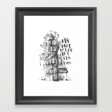 a humble residence Framed Art Print